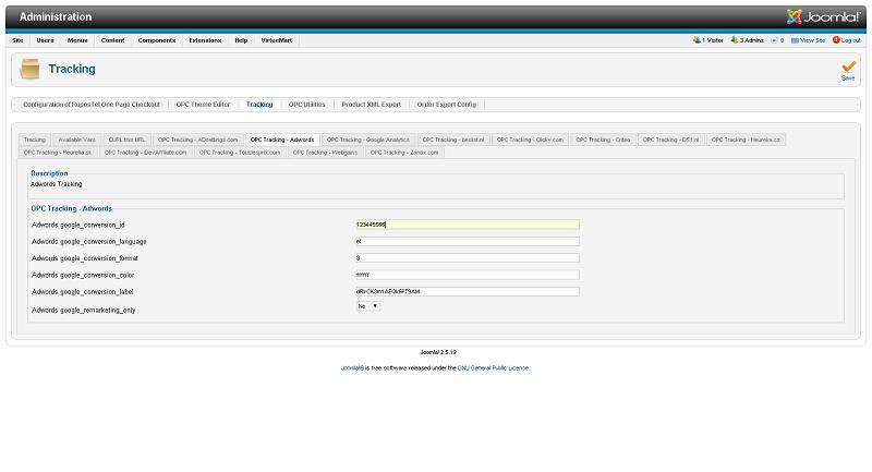 Google adwords conversion tracking code virtuemart сертификация яндекс директ тест